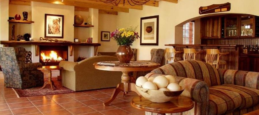 Country Guesthouse Lounge - Pam Golding Hospitality Partners - Five Star Cape Dutch Guesthouse in the Klein Karoo